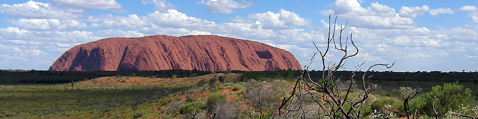 Uluru on the Cross-Continent Australian outback guided motorcycle adventure