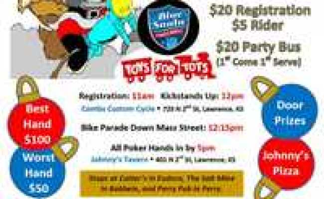 Motorcycle Poker Run Toys For Tots And Blue Santa Poker