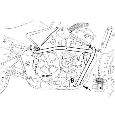 Honda CB 600 F Hornet Valbeugels