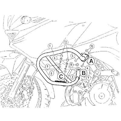 Kawasaki KLV 1000 Valbeugels