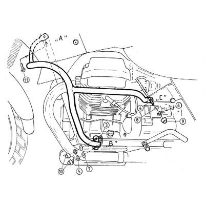 Moto Guzzi Quota 1100 ES Valbeugels