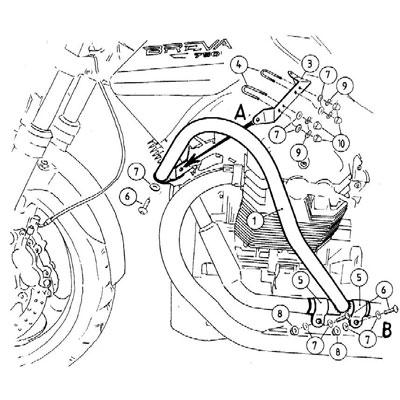 Moto Guzzi Breva V 750 ie Valbeugels