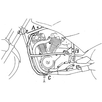 Suzuki VX 800 Valbeugels