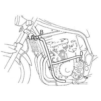 Suzuki GSF 600 N Bandit Valbeugels