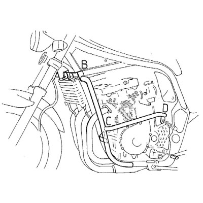 Suzuki GSF 1200 S Bandit Valbeugels