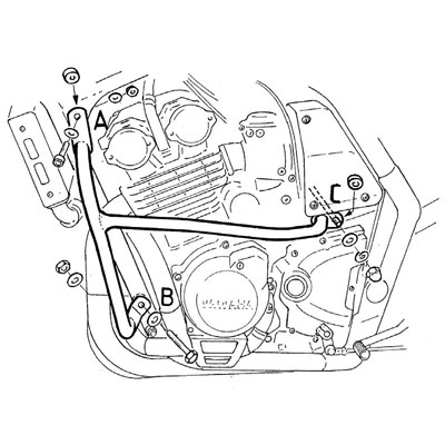 Yamaha FZS 600 S Fazer Valbeugels