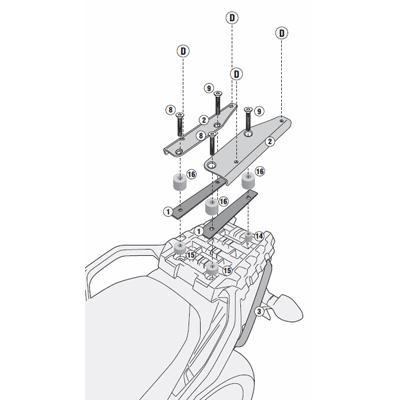Givi Topkofferdrager Monolock Suzuki DL 1000 V-Strom