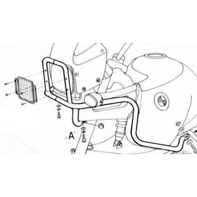 BMW R 1100 GS Koplamp Beschermers