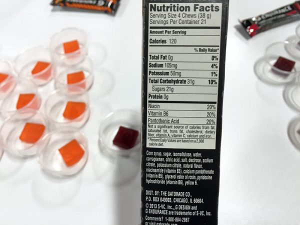 gatorade endurance energy chews