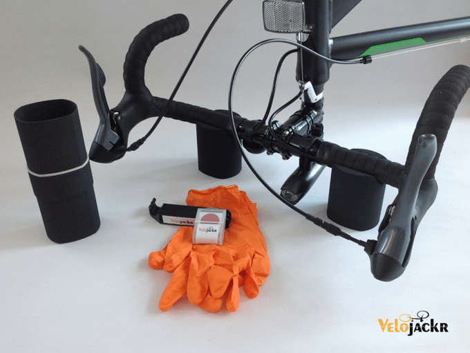 Velojackr portable repair stand kit reshapes to fit in cages ... 9823384ff