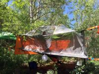 Tents Suspended From Trees & The Omega
