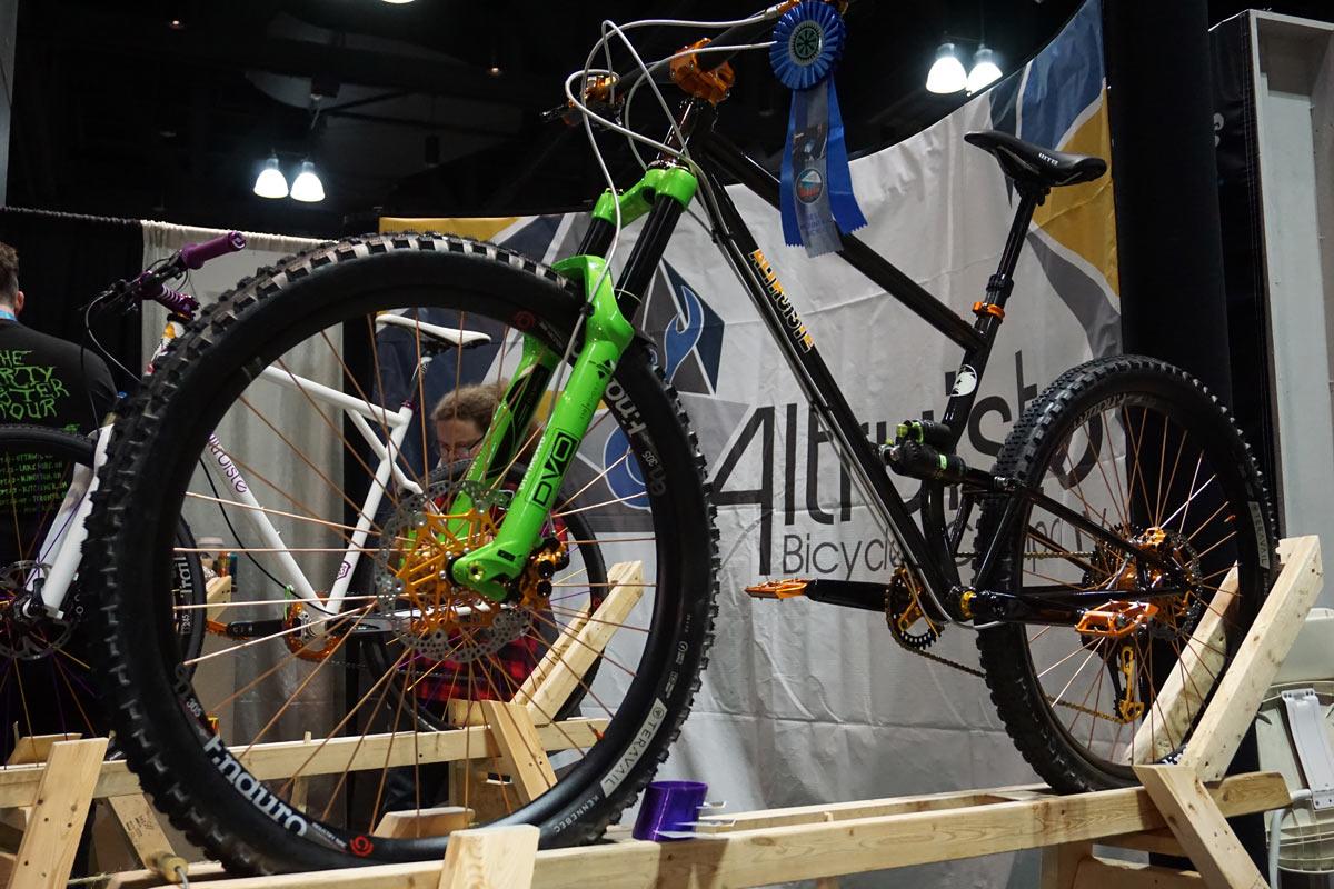 291b7372a NAHBS 2018  Altruiste s wild single pivot mountain bikes (and more ...