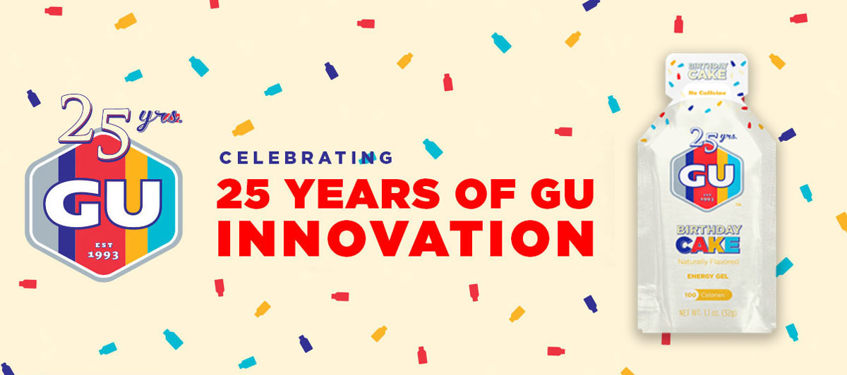 GU Birthday Cake Energy Gel Celebrates Brands 25th Year In Business