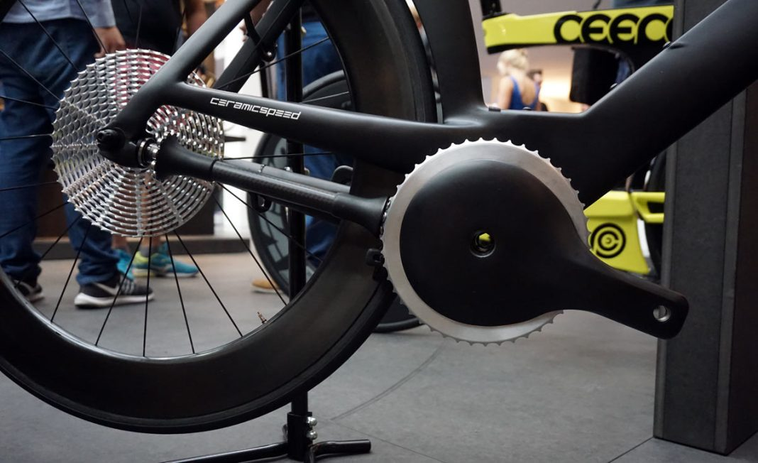 CeramicSpeed Driven concept bicycle drivetrain with no derailleur or chain