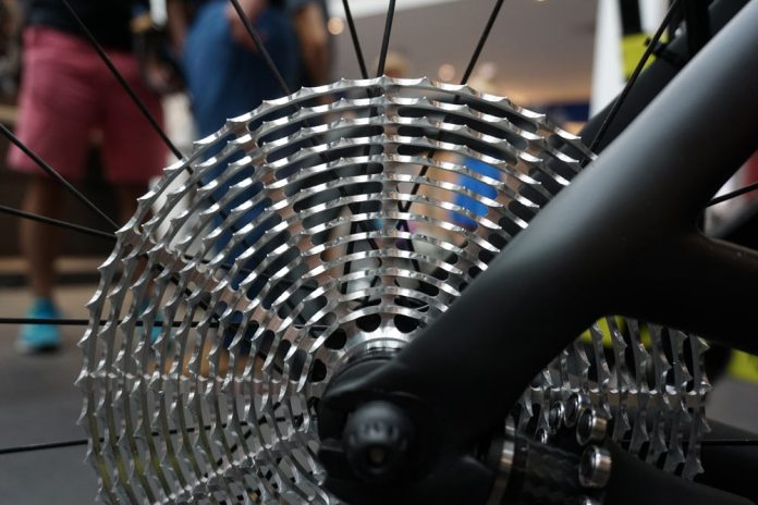 CeramicSpeed Driven concept shaft drivetrain with roller bearings and flat cassette requires no derailleur