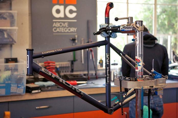 Baum Corretto custom lightweight titanium rim brake road bike
