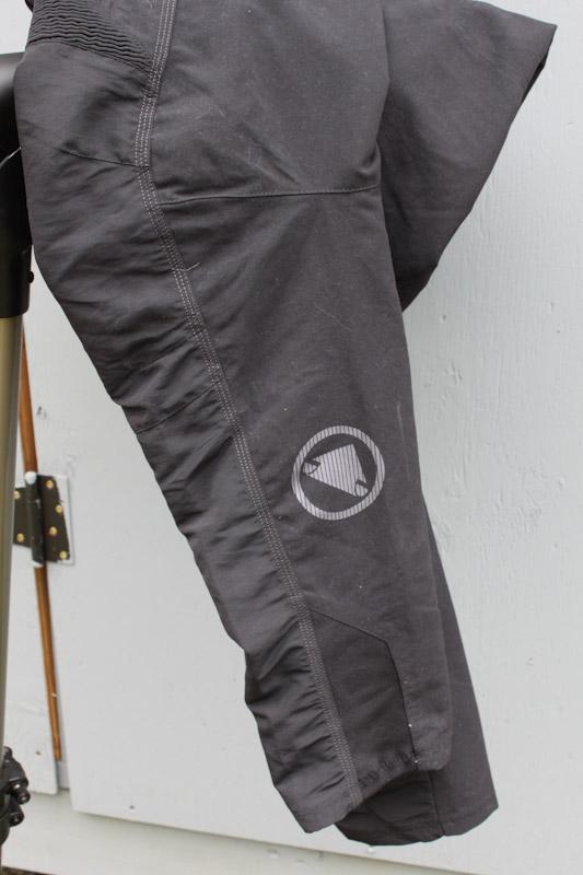 Endura Singletrack trail pants, leg