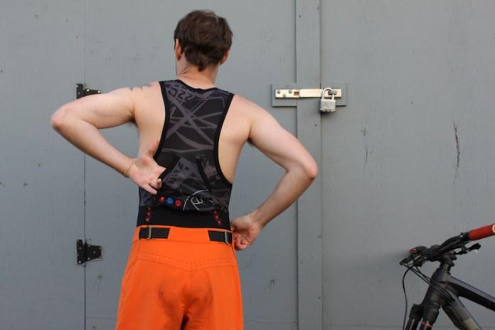 Endura Singletrack Bib Liners, back pocket