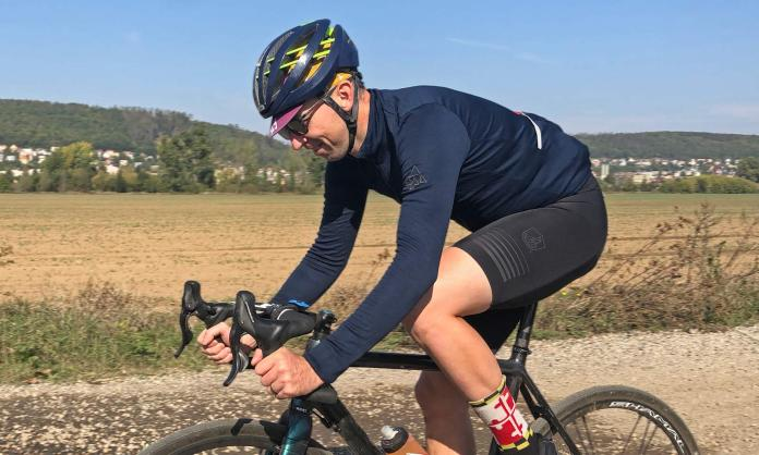 Podia Navy & Olive Merino, Podia Merino lightweight long sleeve Smartwool wool blend cycling jersey
