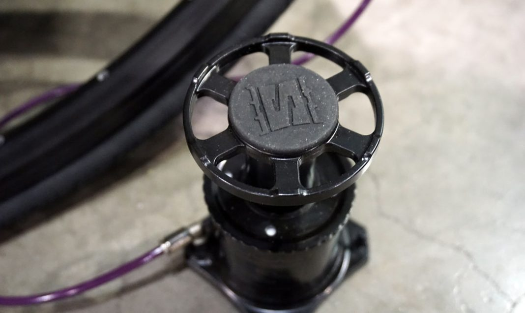 Stompump bicycle floor pump fills bicycle tires faster than standard pumps
