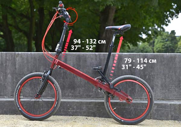 StepTwin folding bike with alternative pedaling motion