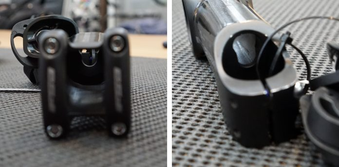 how to hide shift and brake cables inside your stem and frame on a road bike
