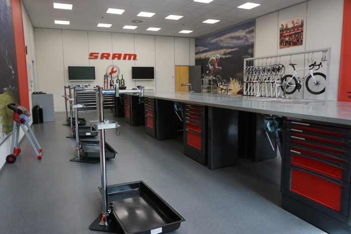 SRAM Schweinfurt Headquarters tour shows where they do drivetrain development plus European marketing and dealer service support