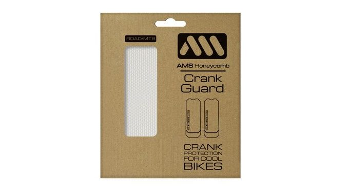 All Mountain Style Honeycomb Crank Guard is stick-on protection for road & MTB