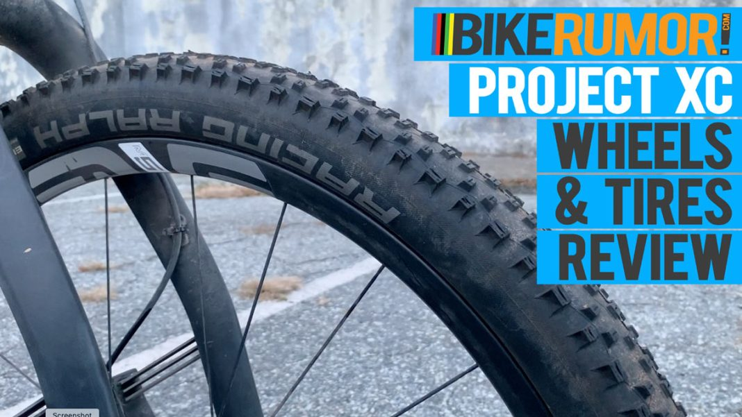 ENVE M525 carbon fiber mountain bike wheels review and Schwalbe Addix Racing Ralph and Thunder Burt XC tires review