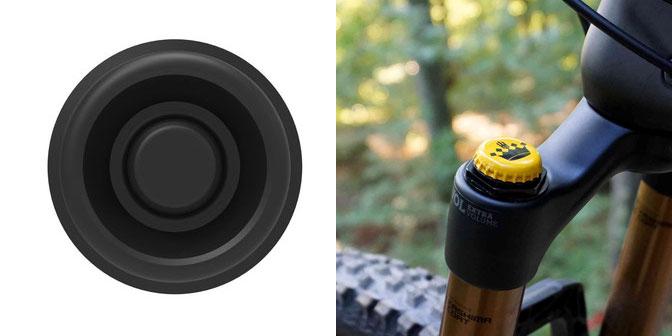 Zine suspension fork air cover beer cap