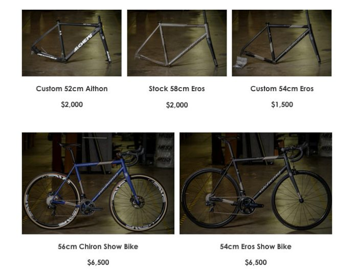 alchemy bicycles demo bike sale lets you get a lightly used carbon road gravel cyclocross or mountain bike for a huge discount