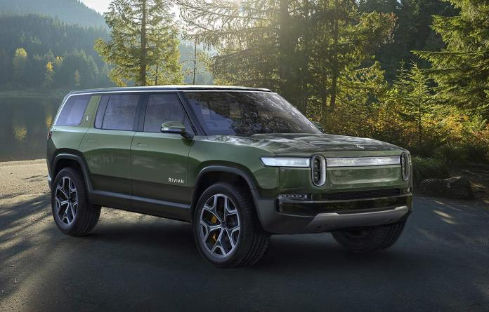 The Rivian R1S is the worlds first full electric non-hybrid 7 passenger SUV