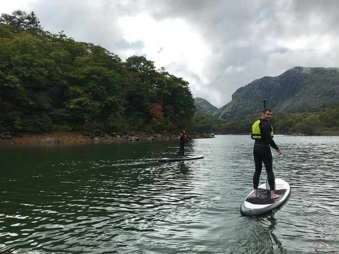 shigakogen mountain discovery offers paddle boarding river SUP canyoneering waterfall climbing and repelling and more