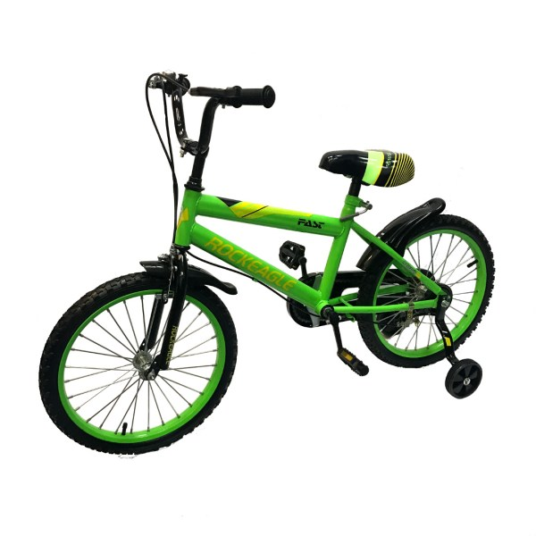 Sporty Kids Bicycle Neon Green 18 Wheel Size
