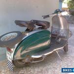 Used 1979 Model Vintage Scooter Lamby 150 For Sale In Mumbai Id 14523 Dark Green Silver Colour Bikes4sale
