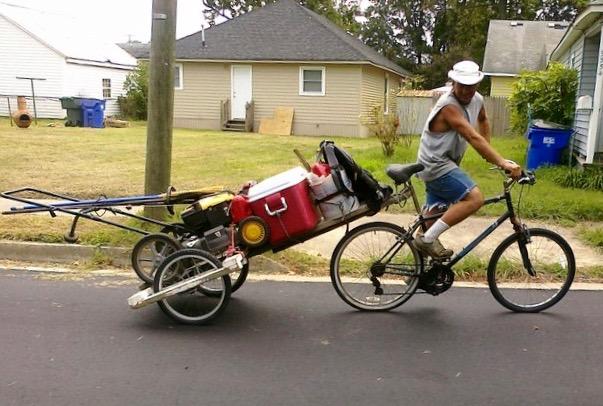 Meet Joes Lawnmower Bike Cart  BikeShopHubcom