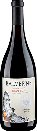 Half-case (6 bottles) 2013 Balverne Reserve Pinot Noir (Retail Value: $270)