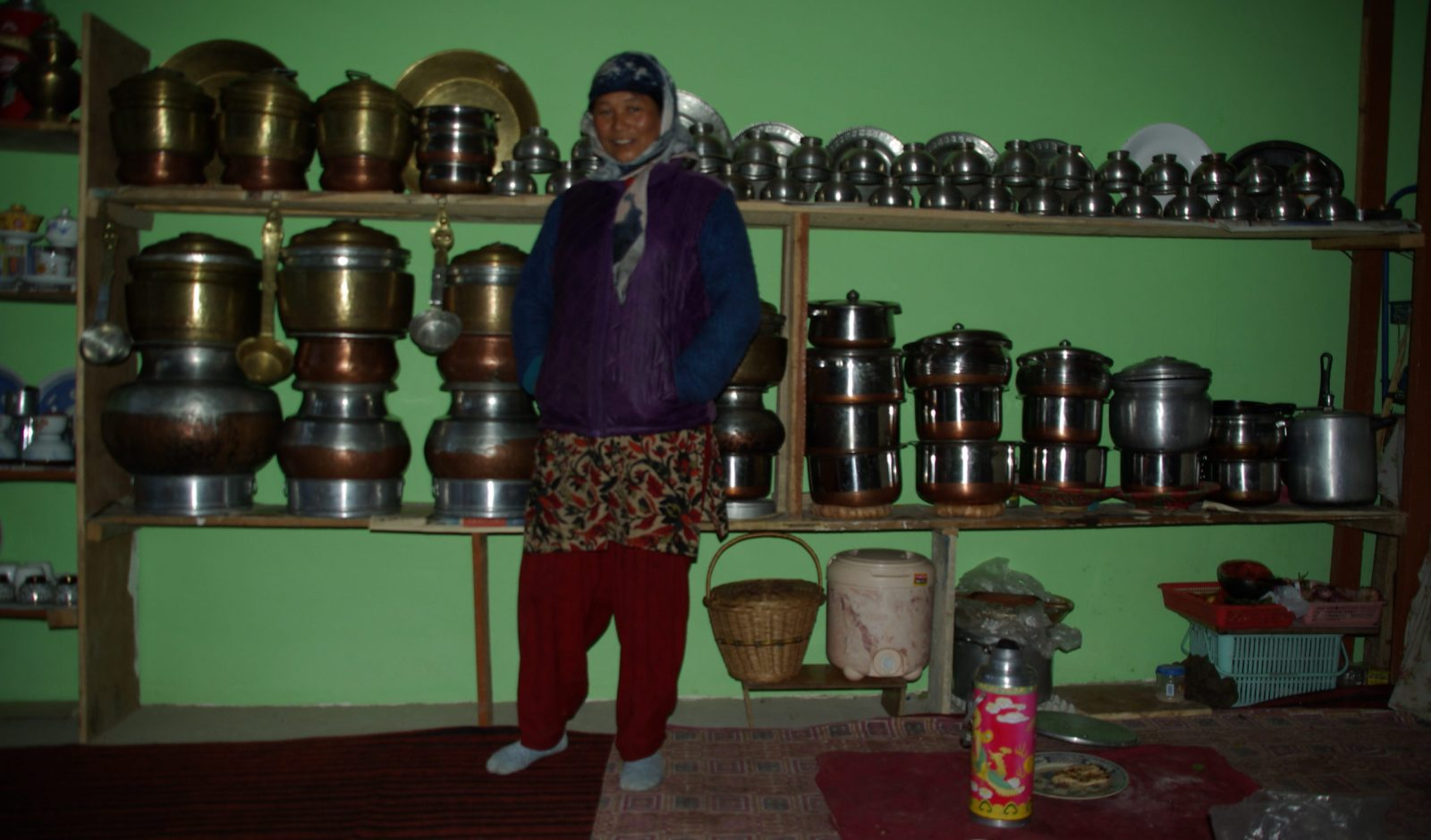 proud housewife in homestay