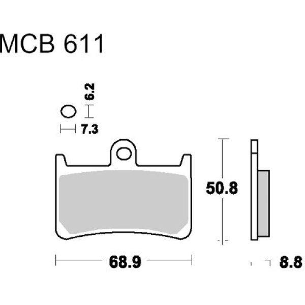 Bremsbeläge Bremsklotz Standard TRW MCB611 für Yamaha