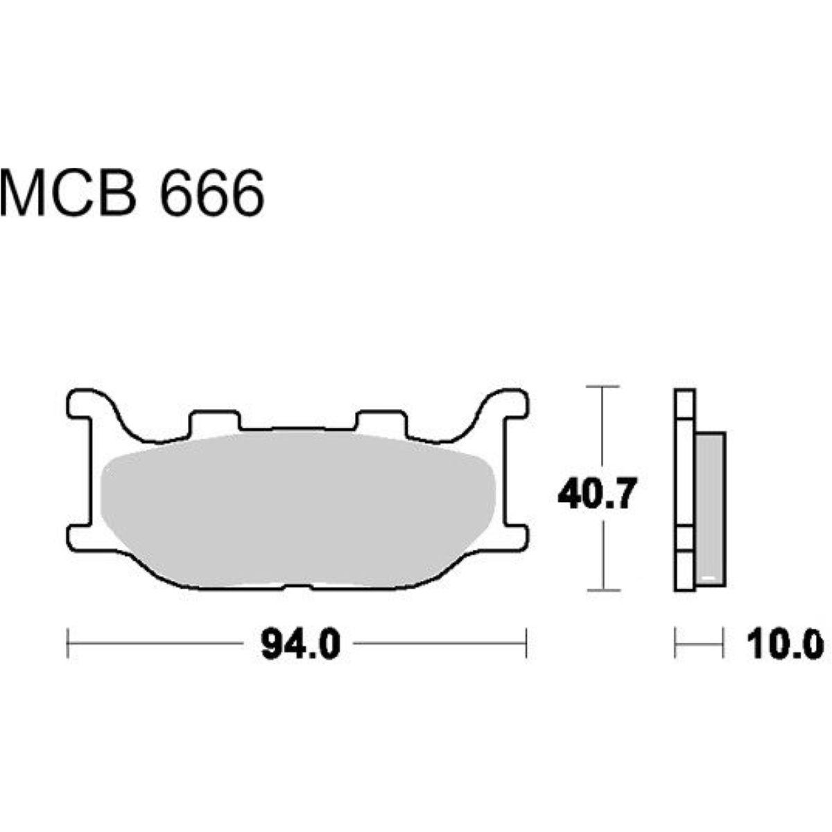 Bremsbeläge Bremsklotz Standard TRW MCB666 Yamaha YP