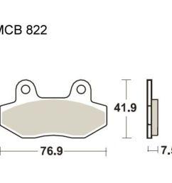 brake pads std trw mcb822 f r peugeot speedfight 4 50 2015 2016 5 4 ps 4 kw [ 1000 x 1000 Pixel ]