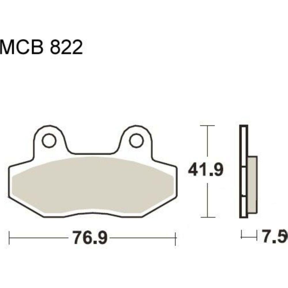 medium resolution of brake pads std trw mcb822 f r peugeot speedfight 4 50 2015 2016 5 4 ps 4 kw