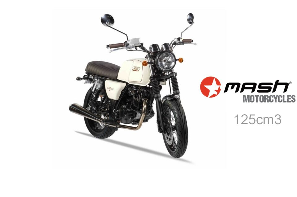 Location de moto 125cc à Nice. MASH 125cc Brown Edition