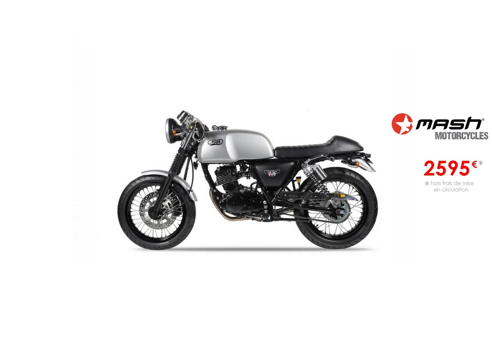 Votre concessionnaire moto Mash cafe racer 125cm3 à Nice