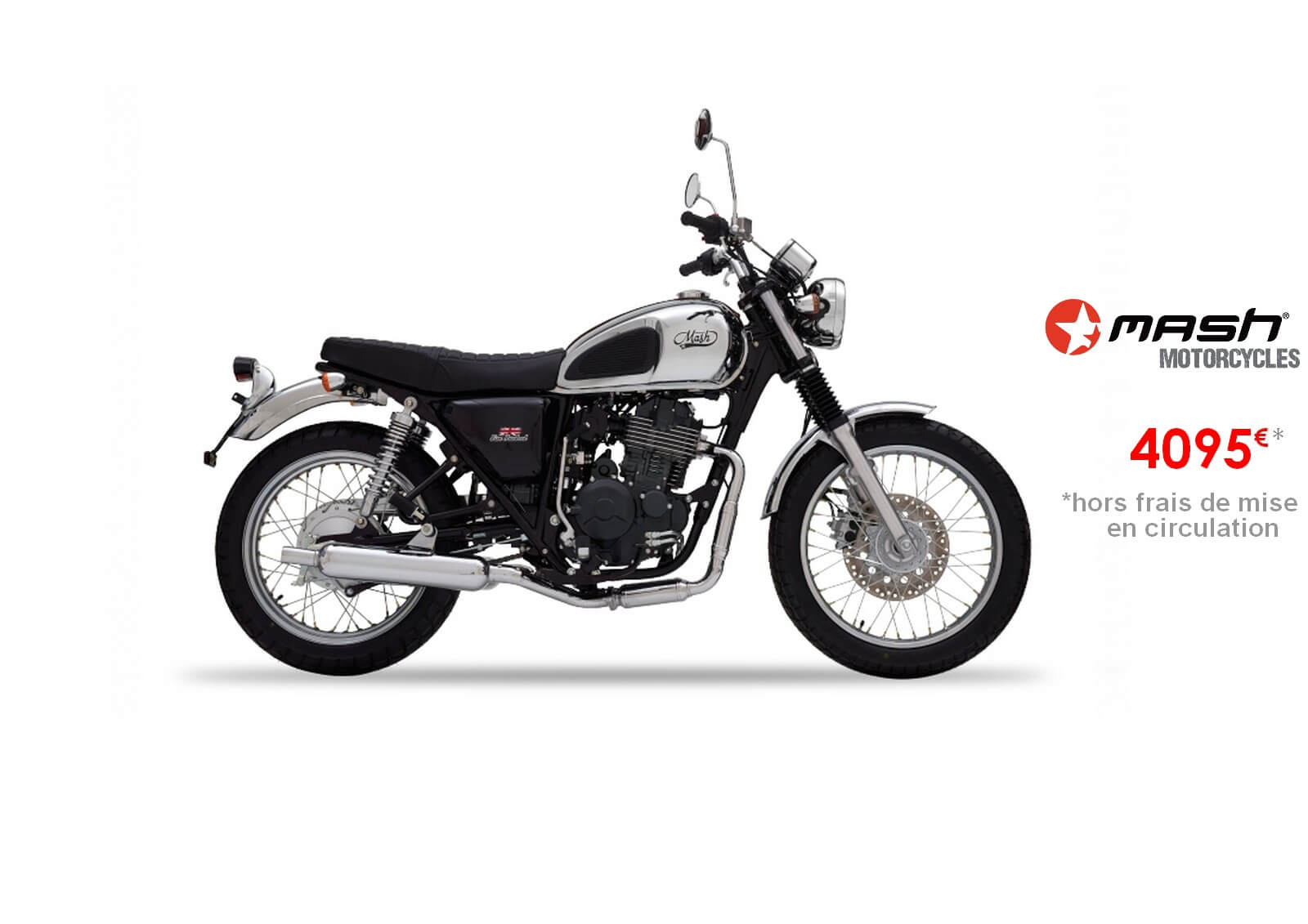 Votre concessionnaire moto Mash Five Hundred Chrome 400cm3