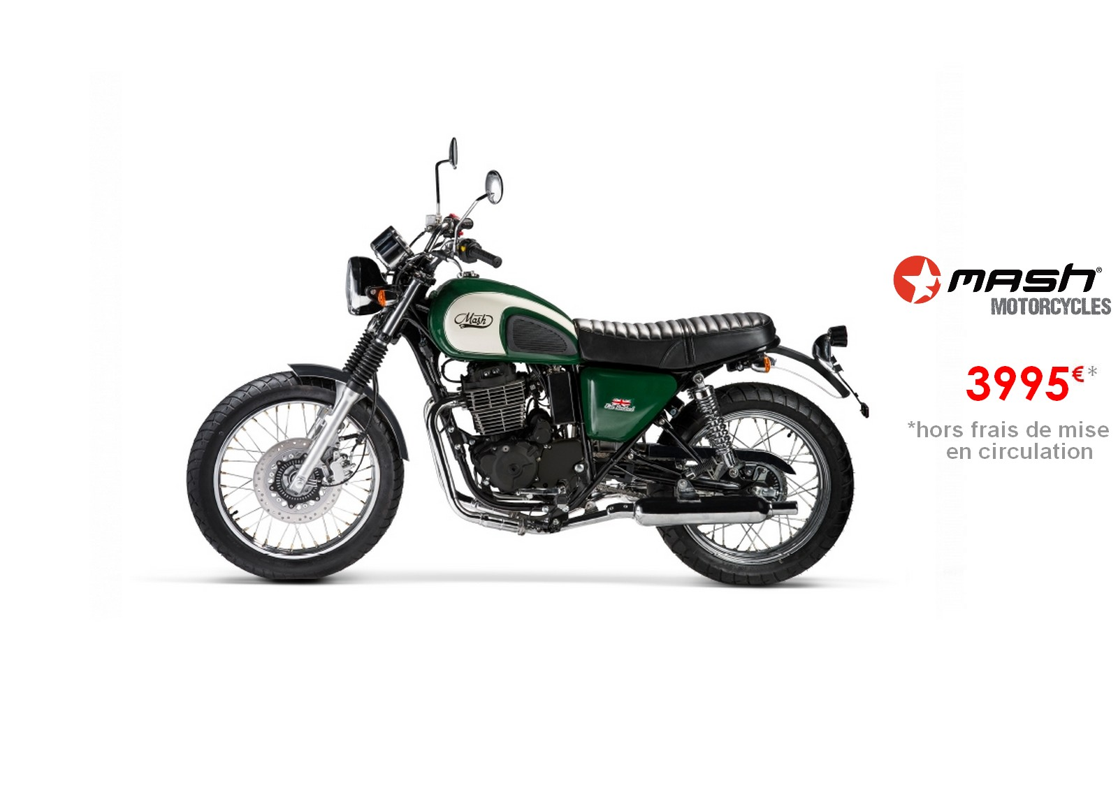 Votre concessionnaire moto Mash Five Hundred Irish Green