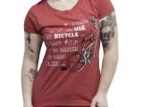 Camiseta casual Feminina Bicycle Race - Vermelha mescla
