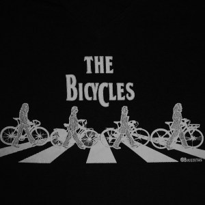 The Bicycles - Camiseta feminina preta