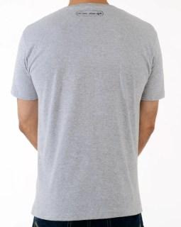 Camiseta casual estilo rápido / Coleção Classic Line - cinza