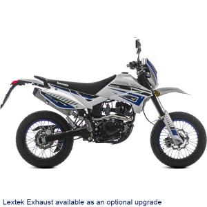 Lexmoto Adrenaline 125 White-Blue (Lextek Exhaust)